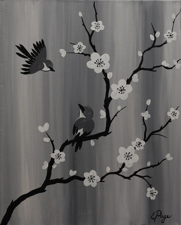 Birds Painting - Birds and Blossoms by Emily Page