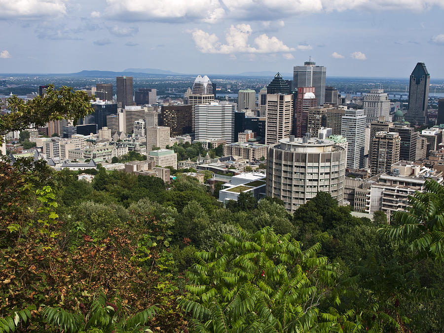 Mount Royal Photograph - Birds Eye View Of Montreal, Canada by Stacy Gold