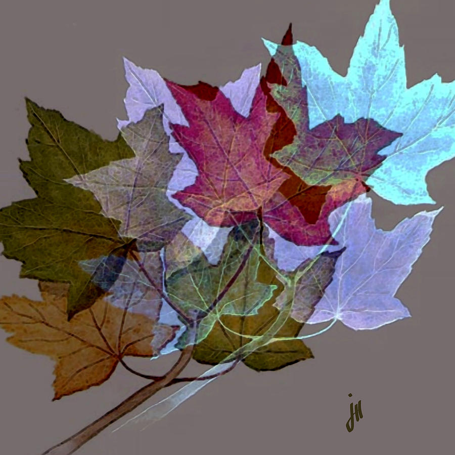 Nature Painting - Birds In The Leafs by Jonathon Hetts