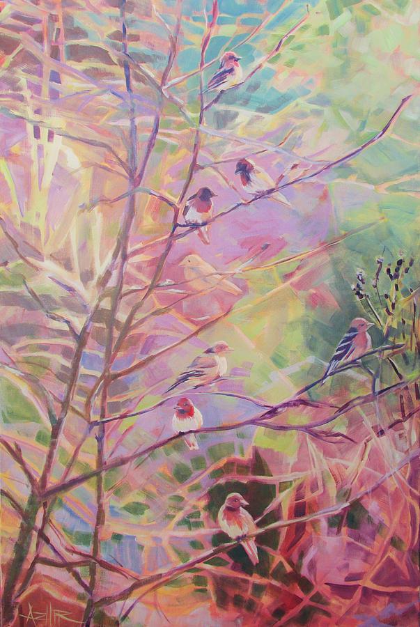 Bird Painting - Birds In The Thicket by Azhir Fine Art