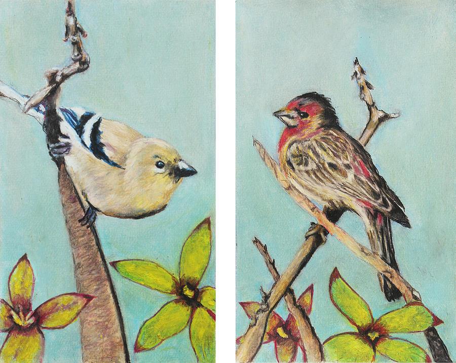 Wild Painting - Birds by Jeanne Fischer