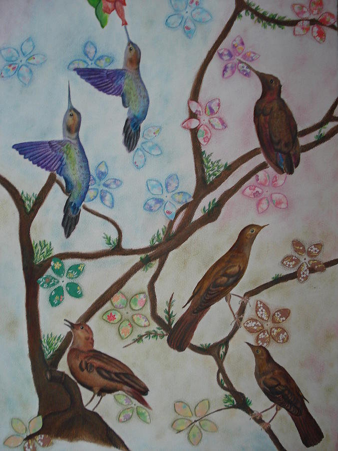 Birds Mixed Media - Birds by Latha  Vasudevan