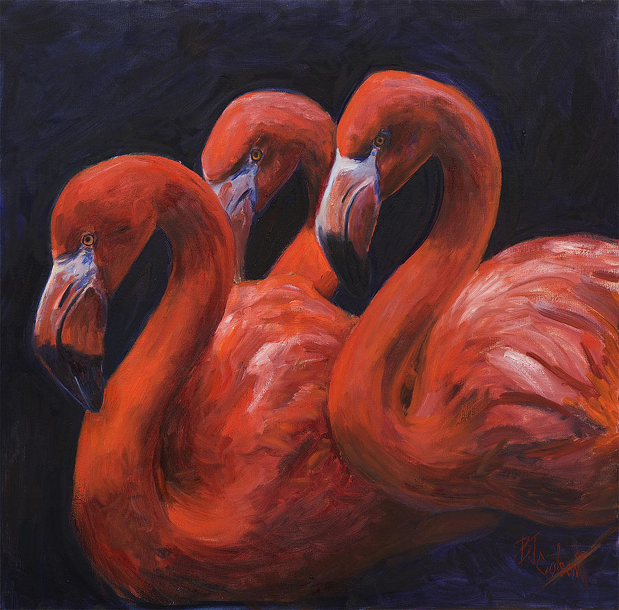 Flamingos Painting - Birds Of A Feather by Billie Colson