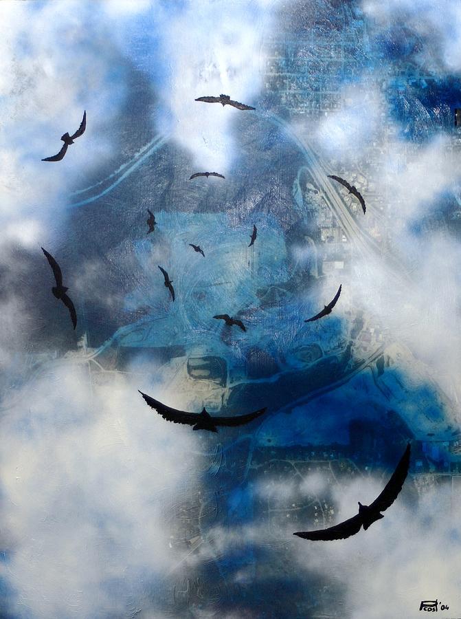birds of apocalypse VI Painting by Poul Costinsky