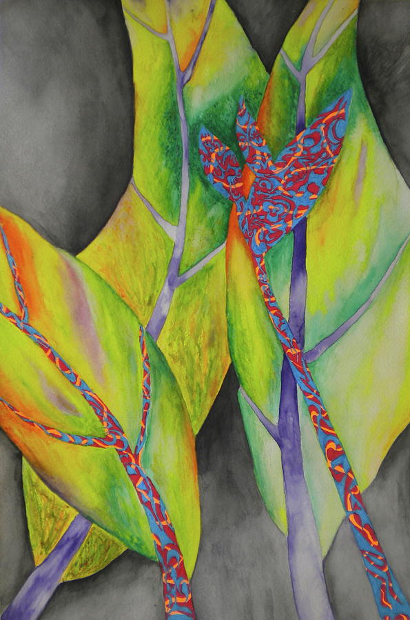 Banana Leaves Painting - Birds Of Bananas  by Dylan Chambers