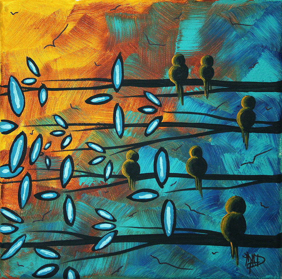 Painting Painting - Birds Of Summer By Madart by Megan Duncanson
