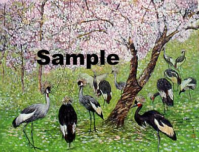 Birds Painting - Birds Twitter And  Fragrance Of Flowers by Komi Chen