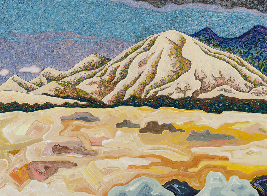 Dale Beckman Mixed Media - Birdseye Landscape #5 by Dale Beckman