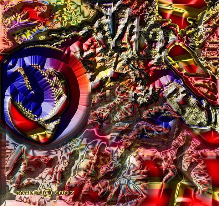 Jazz Mixed Media - Birdz I View Of Chato S Land by Booker Williams