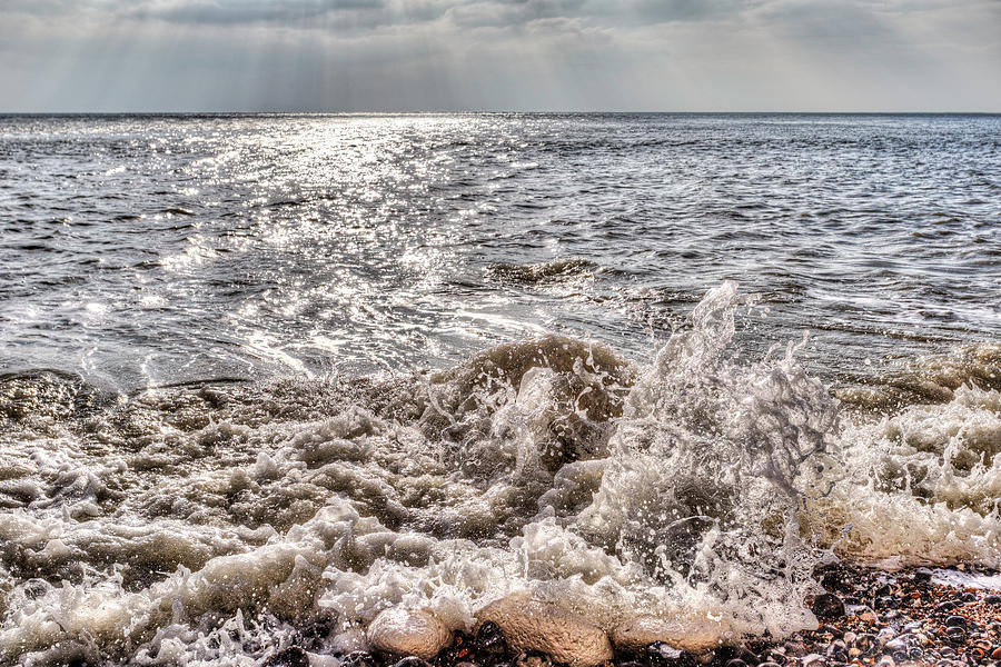 Storm Waves Photograph - Birling Gap Waves by David Pyatt