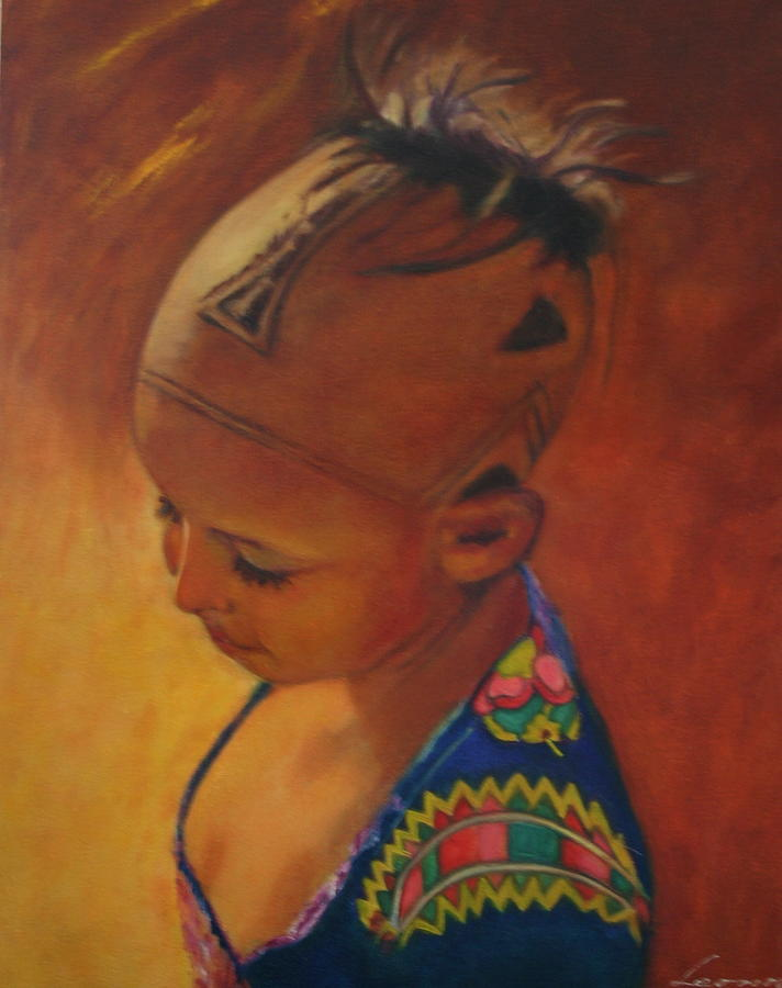 Portrait Painting - Birmanese Girl by Leonor Thornton