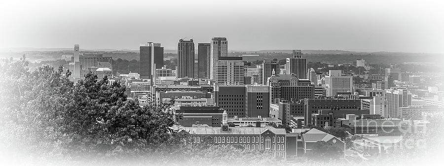 Birmingam, AL View in Black and White by Tracy Brock