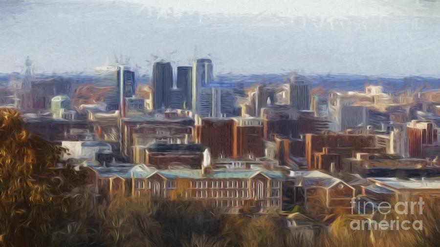 Birmingham Alabama Cityscape by Barb Dalton