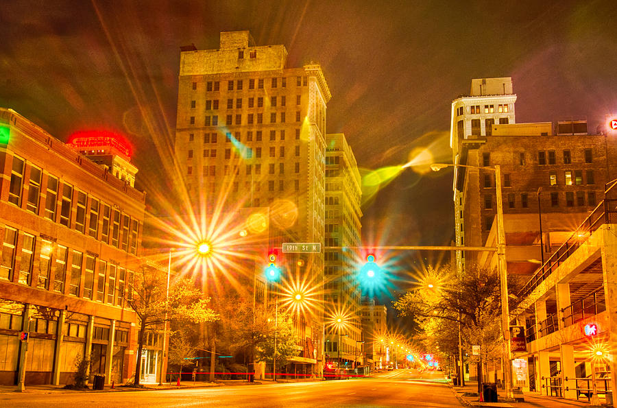 Alabama Photograph - Birmingham Alabama Evening Skyline by Alex Grichenko