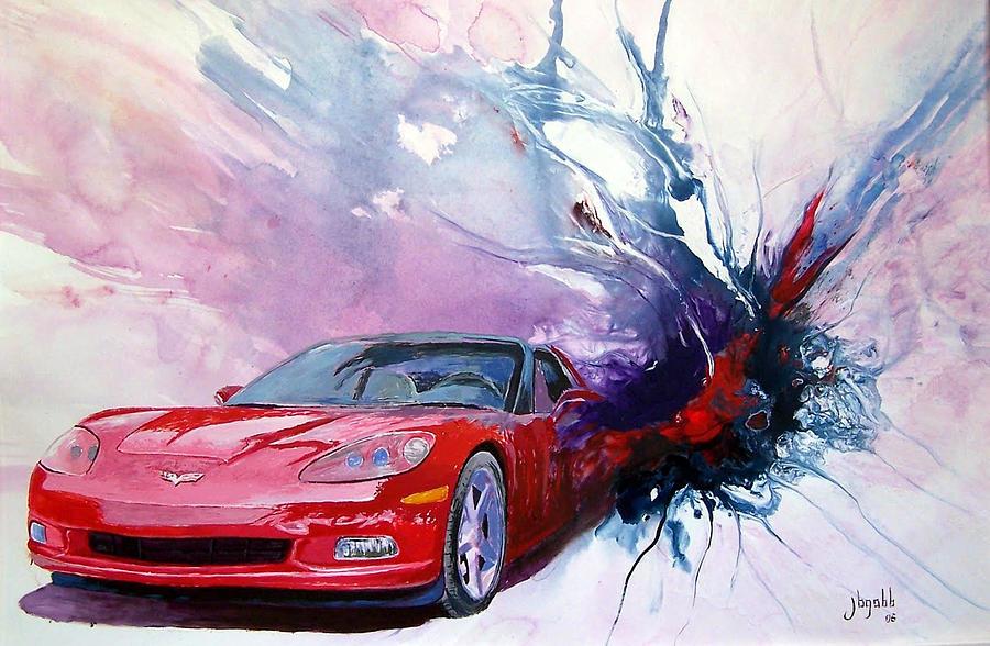 Birth Of A Corvette Painting by John Gabb