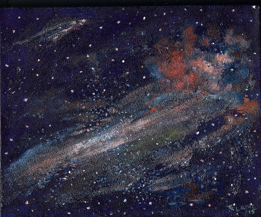 Outer Space Painting - Birth Of A Galaxy by Elizabeth Lane