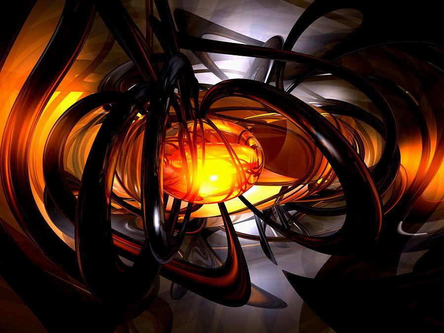 3d Digital Art - Birth Of A Sun Abstract by Alexander Butler