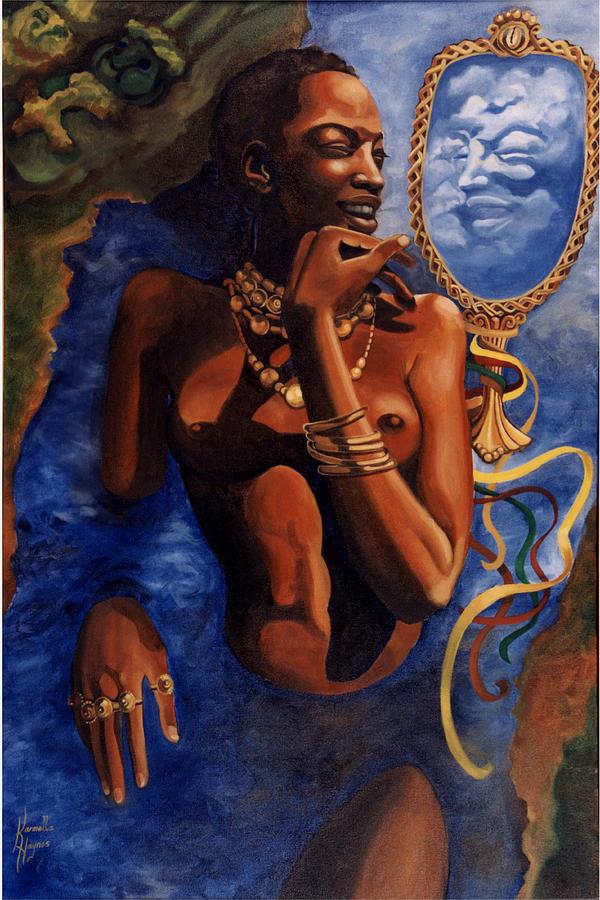 Afro-cuban Painting - Birth of Oshun by Karmella Haynes