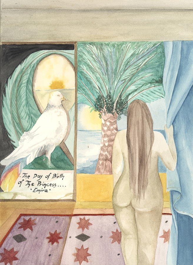 Bird Painting - Birth Of Princess Emira by Amrei Al-Tobaishi-Jarosch