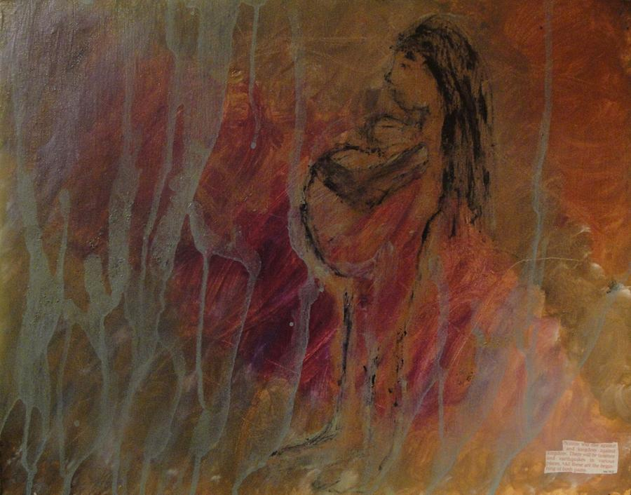 Inspirational Posters Painting - Birth Pains by Lisa  Graham