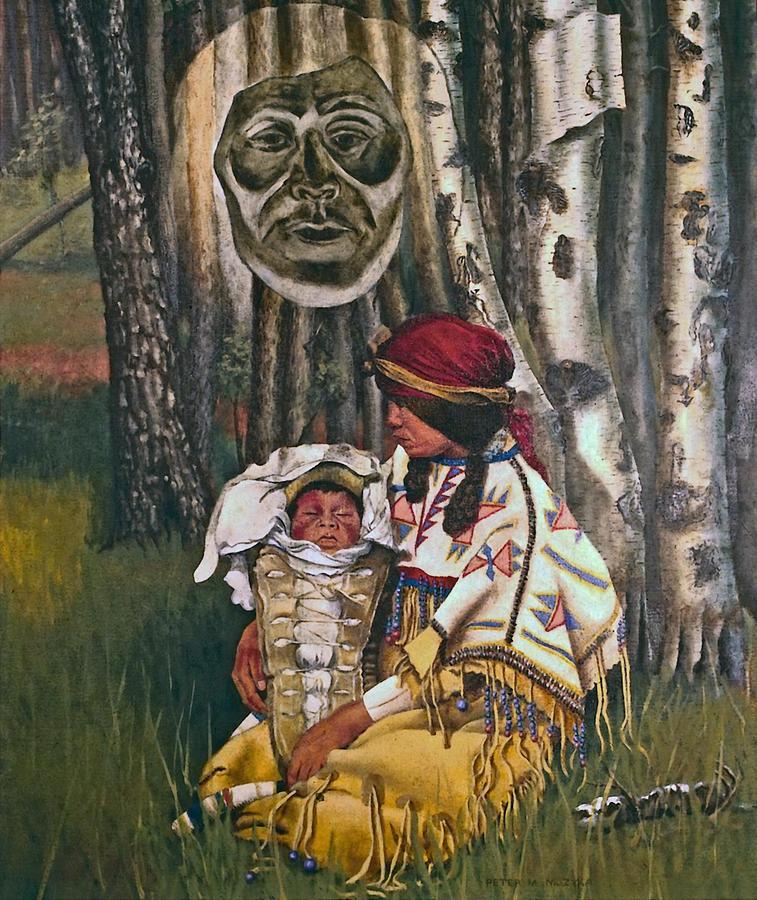 Native American Painting - Birth Spirit by Peter Muzyka