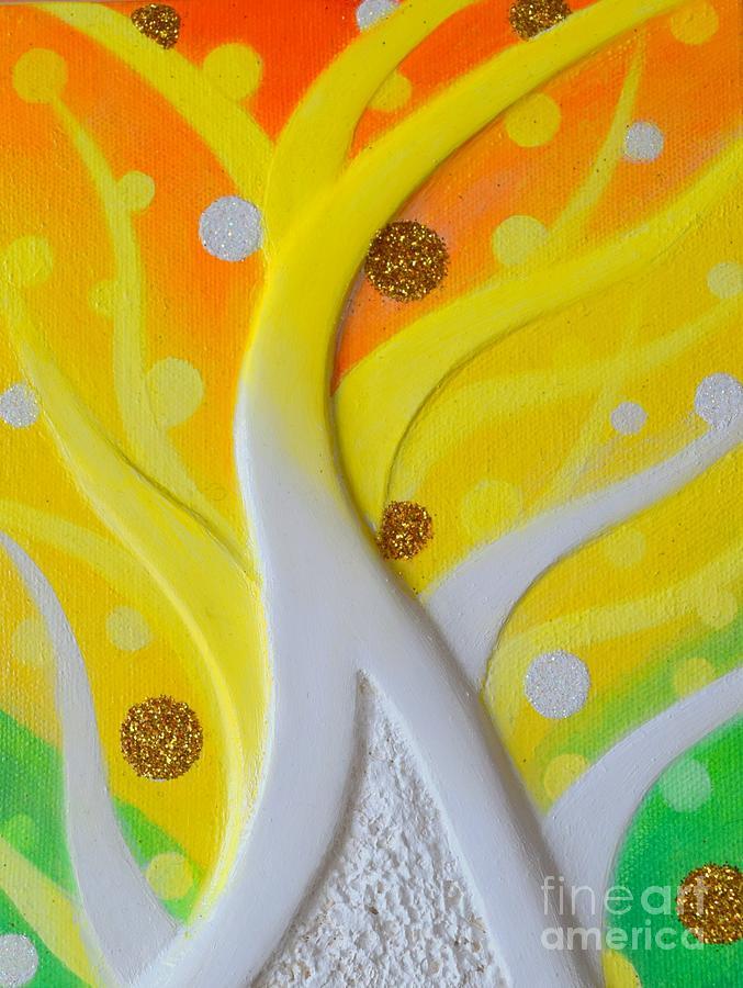 Birth Painting - Birth Yellowgold 3 by Kumiko Mayer