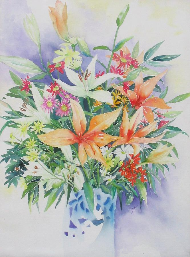 Bouquet Painting - Birthday Bouquet by June OConnell