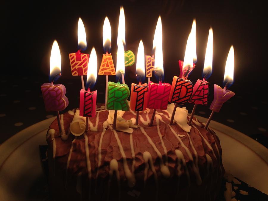 Birthday Cake Photograph By Werner Schumann