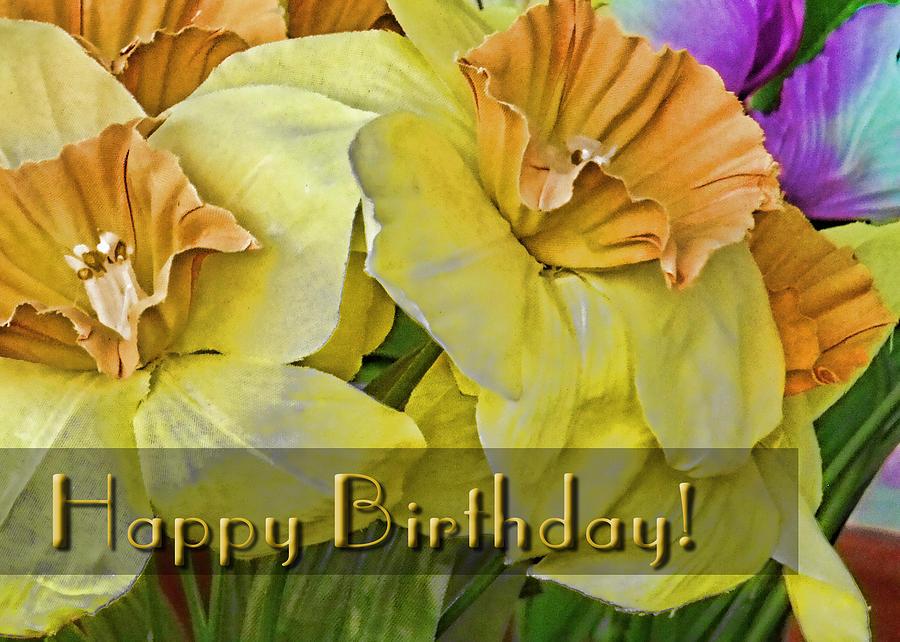 Flower Digital Art - Birthday Card - General by Kenneth Krolikowski