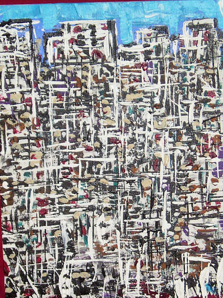 Abstract Painting - Birthday City by Kevin Dougherty