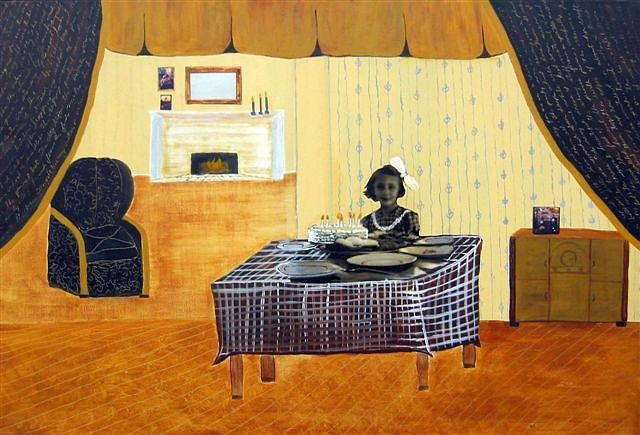 Interior Painting - Birthday Girl by Sandy Glass