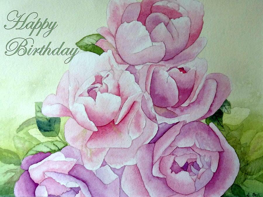 Birthday Peonies Painting by Laurel Best
