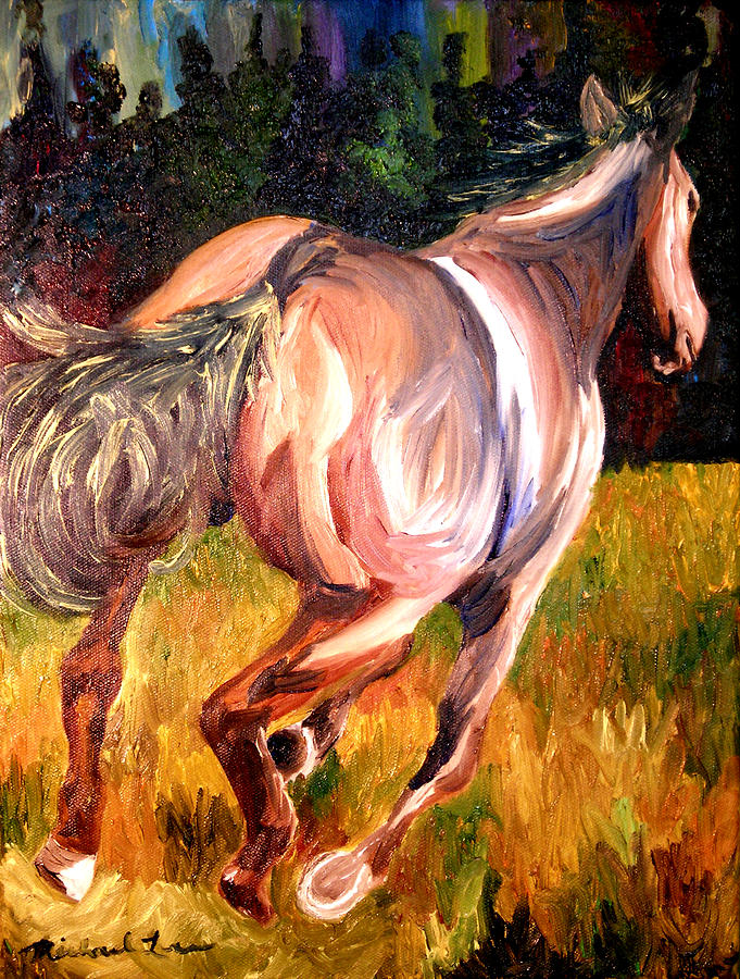 Horse Painting - Birthday Poney by Michael Lee