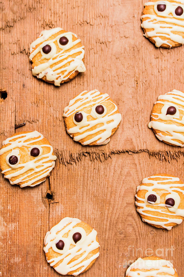 Face Photograph - Biscuit Gathering Of Monster Mummies by Jorgo Photography - Wall Art Gallery