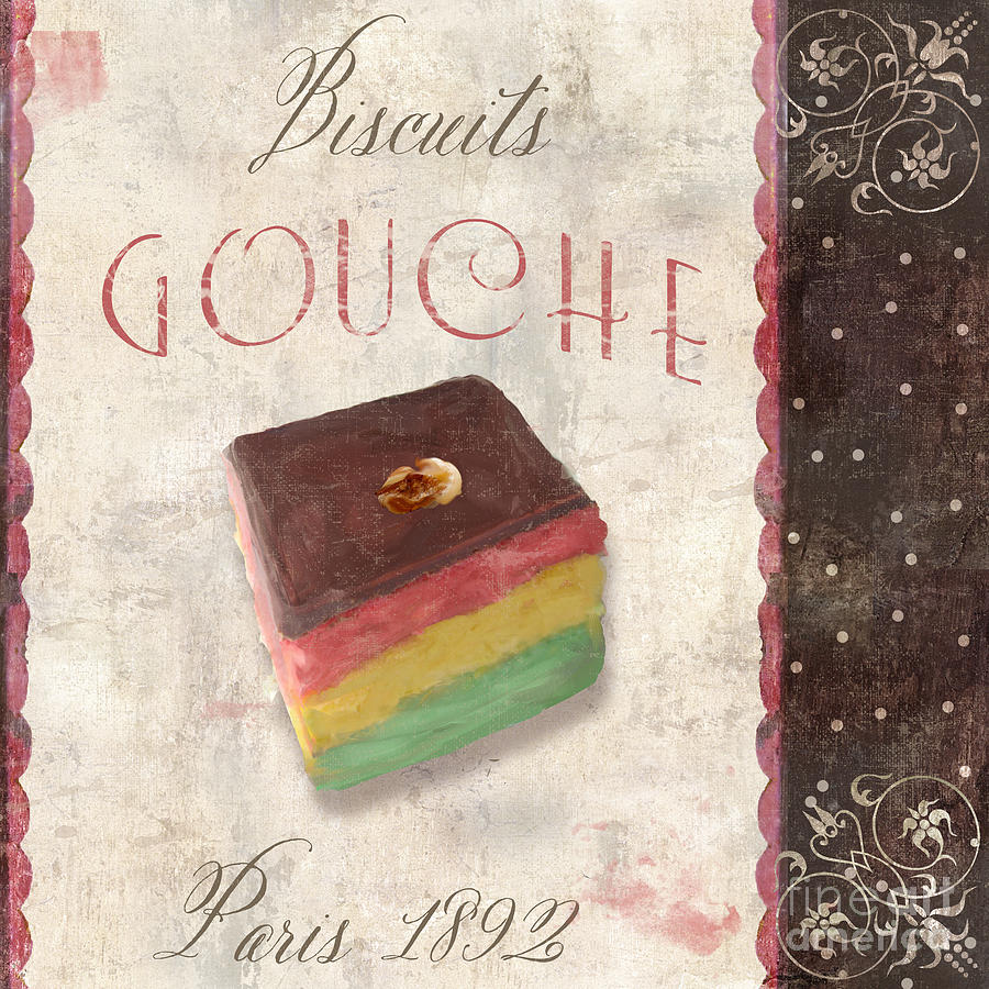 Cupcakes Painting - Biscuits Gouche Patisserie by Mindy Sommers