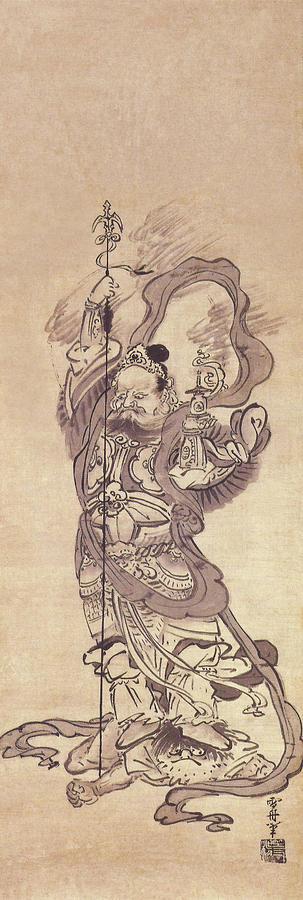 bishamonten by sesshu toyo painting by movie poster prints