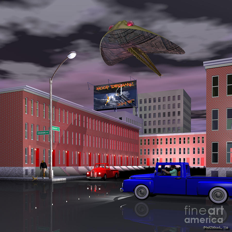 Science Fiction Digital Art - Bishop And Swann Street by Walter Oliver Neal
