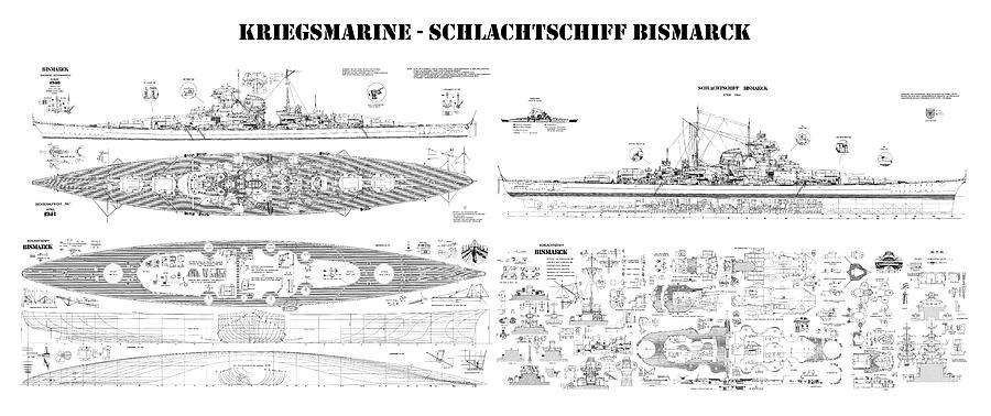 bismarck ship plans of the iconic world war ii. Black Bedroom Furniture Sets. Home Design Ideas
