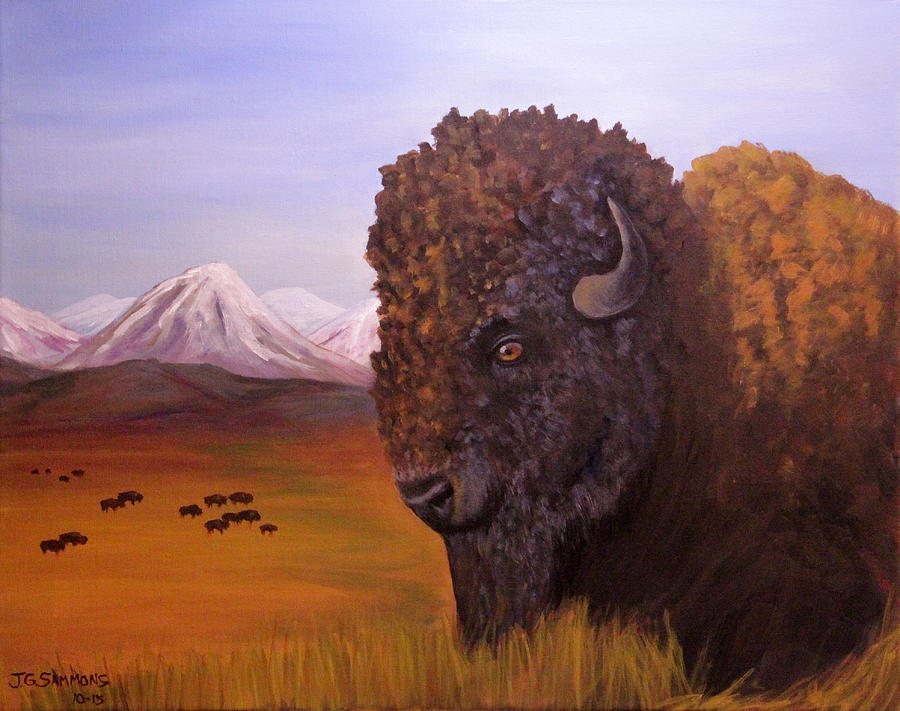 Bison and Plains by Janet Greer Sammons