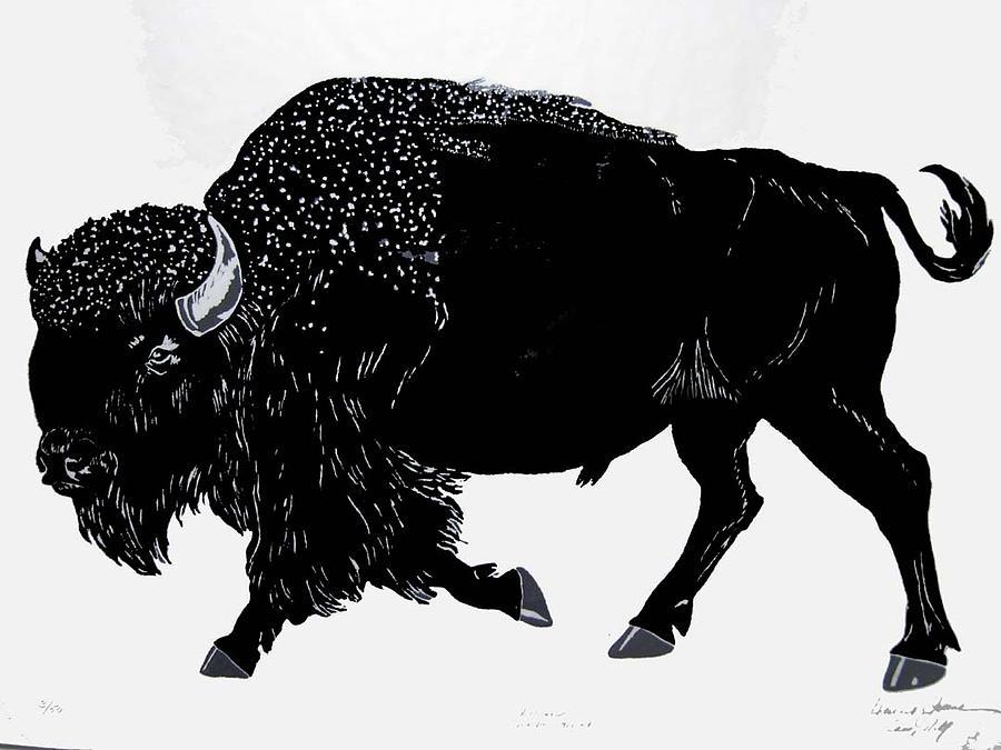 Wildlife Print - Bison by Harriet Greene