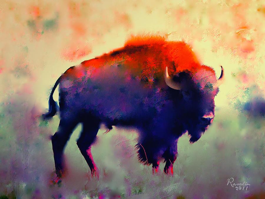 Bison Painting - Bison by Rosalina Atanasova