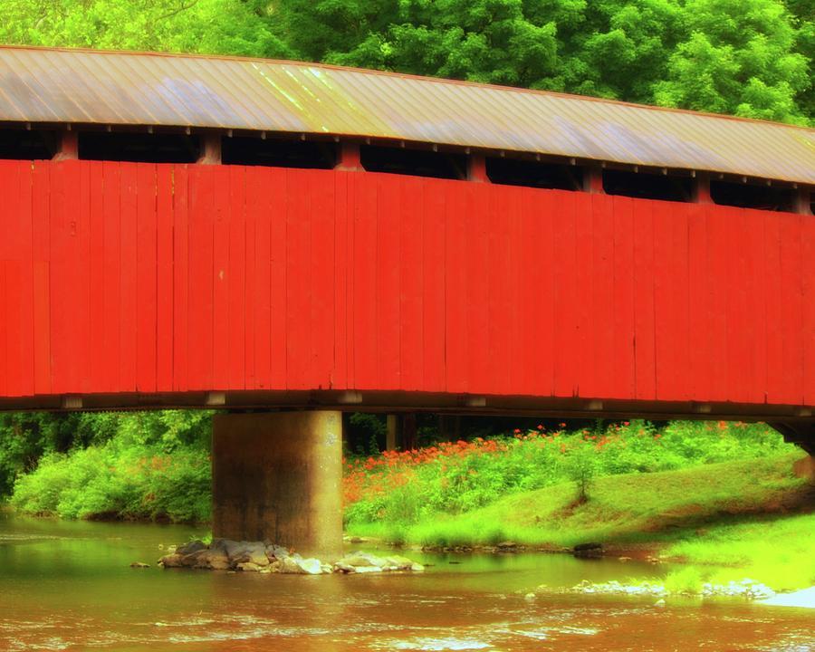Covered Photograph - Bistline Covered Bridges by John Feiser