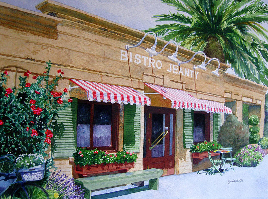 Bistro Jeanty Painting - Bistro Jeanty Napa Valley  by Gail Chandler