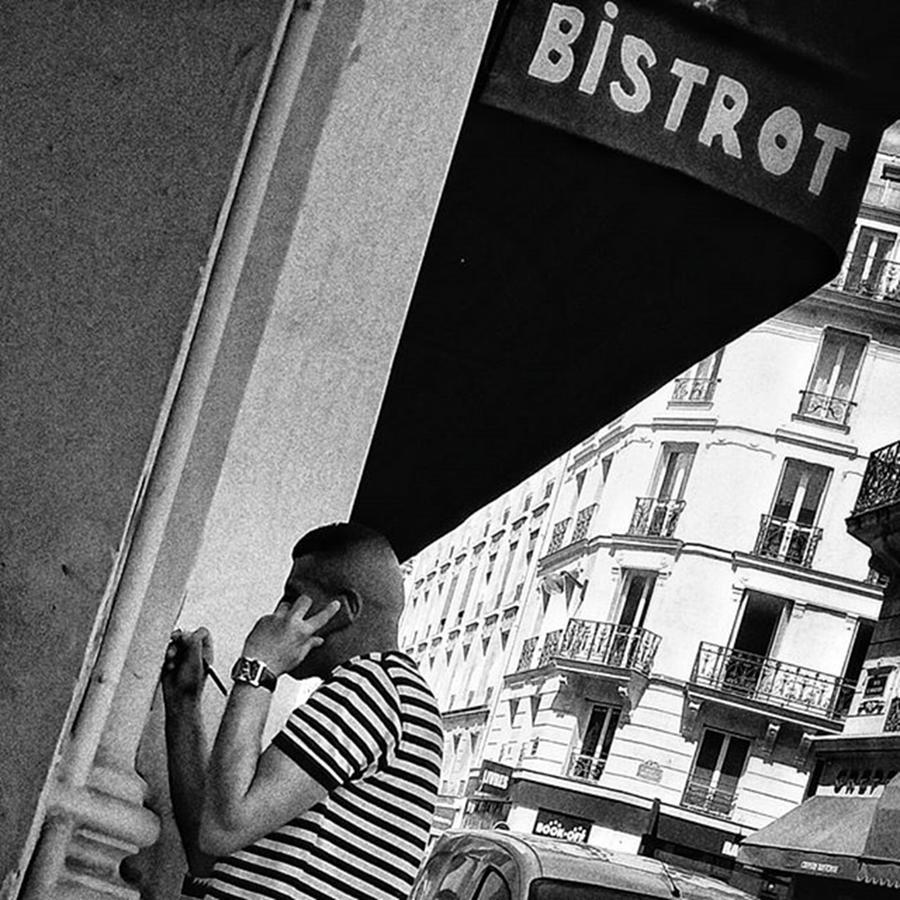 City Photograph - Bistrot Man  #man #bar #bistrot by Rafa Rivas