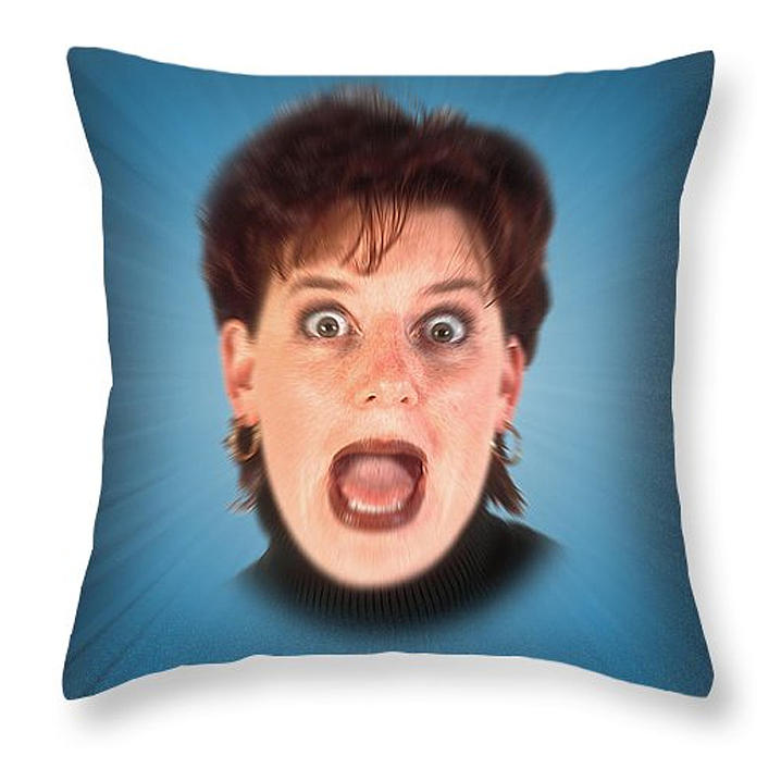 Pillow Digital Art - Bite Me Throw Pillow by Clif Jackson