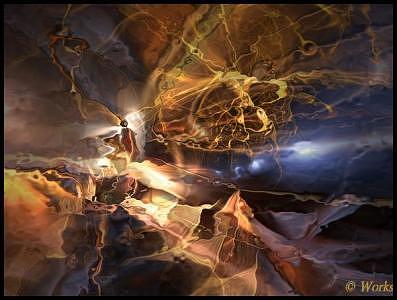 Fractal Digital Art - Biting Through by David Works