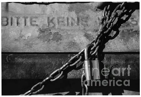Lock Photograph - Bitte Keine by K Randall Wilcox