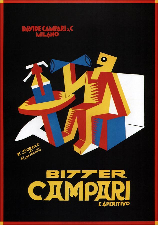 Vintage Mixed Media - Bitter Campari - Aperitivo - Vintage Beer Advertising Poster by Studio Grafiikka