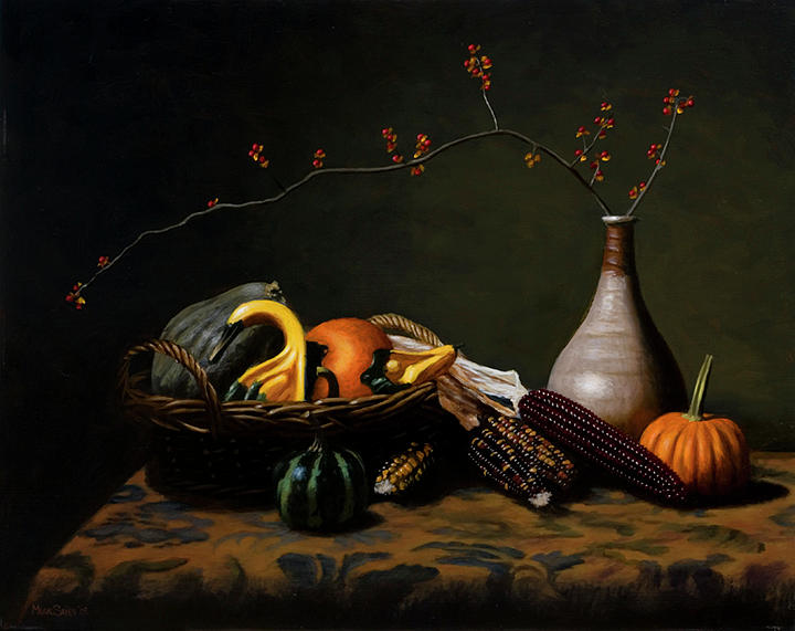 Still-life Painting - Bittersweet by Murad Sayen