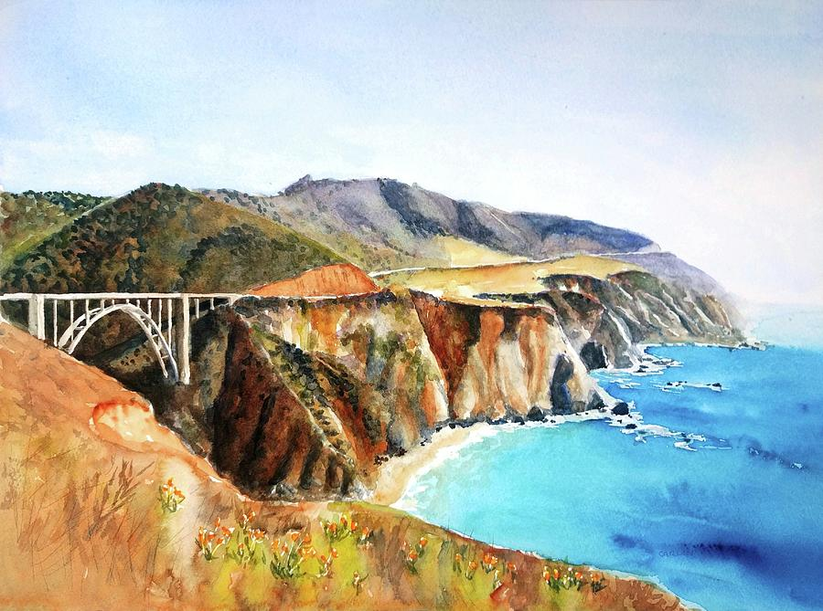 Bixby Bridge Big Sur Coast California by Carlin Blahnik CarlinArtWatercolor
